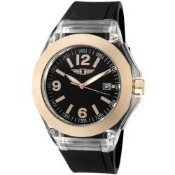 I by Invicta Women's Black Polyurethane Watch