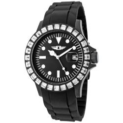 I by Invicta Women's Black Silicone Watch