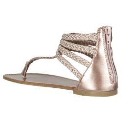 Riverberry Women's 'Sloane' Rose Gold Gladiator Sandals