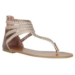 Riverberry Women's 'Sloane' Rose Gold Gladiator Sandals