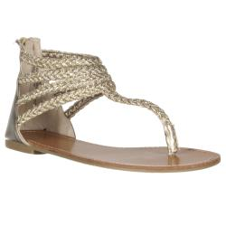 Riverberry Women's 'Sloane' Gold Gladiator Sandal