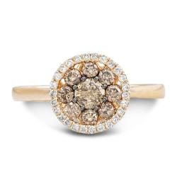 14k Two-tone Gold 1/2ct TDW Brown and White Diamond Ring (I-J, I1-I2)