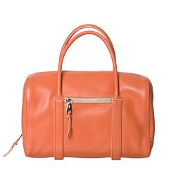 Chloe 'Madeline' Papaya Leather Runway Satchel