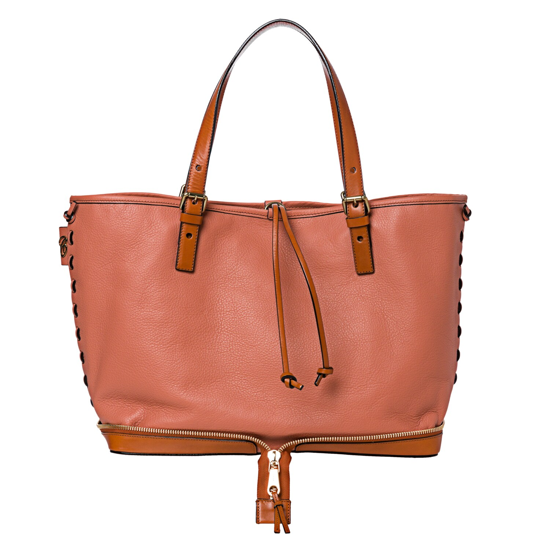 Chloe 'Ellen Moyen' Coral Leather Tote Bag