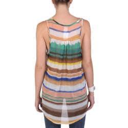 Tressa Designs Women's Contemporary Plus Flowy Sleeveless Sheer Tank