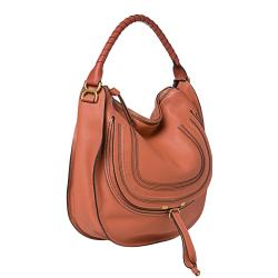 Chloe 'Marcie' Large Coral Leather Hobo Bag