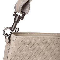 Bottega Veneta 'Intrecciato' Cream Leather Crossbody Bag