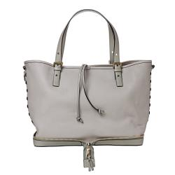 Chloe 'Ellen Moyen' Grey Leather Tote Bag