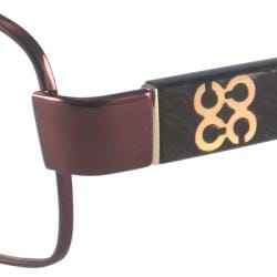 Coach Readers Women's Louise Brown Rectangular Reading Glasses