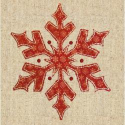 "Snowflake Fabric Applique Kit-8""X8"""