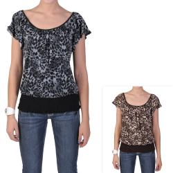 Tressa Designs Women's Contemporary Plus Short-sleeve Smocked Top