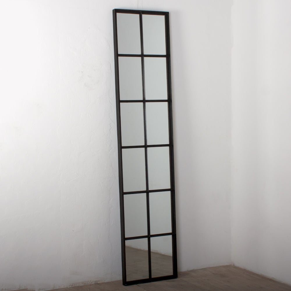 Handmade Iron 12 Pane Tall Window Mirror India