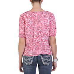 Tressa Designs Women's Contemporary Plus Half Sleeve Boat Neck Top