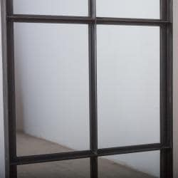 Handmade Iron 12-Pane Tall Window Mirror (India)