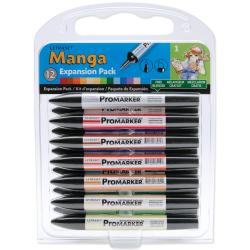Letraset Manga Twin Tip Markers Scrapbooking Expansion Pack One 12/Pkg