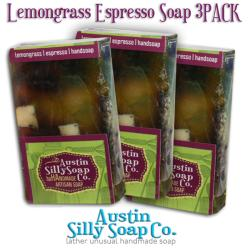 Lemongrass Espresso Handmade Soap for kitchens and gardeners Pack of 3