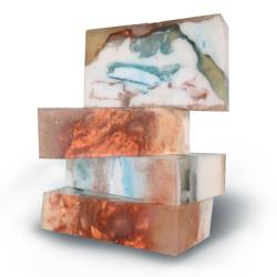 Pack of 3 'Spice up your Shower' Shimering Marrakech Marble Soap