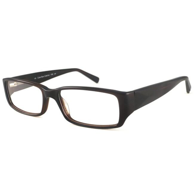 Calvin Klein Readers Men's/ Unisex CK7720 Cocoa Rectangular Reading Glasses