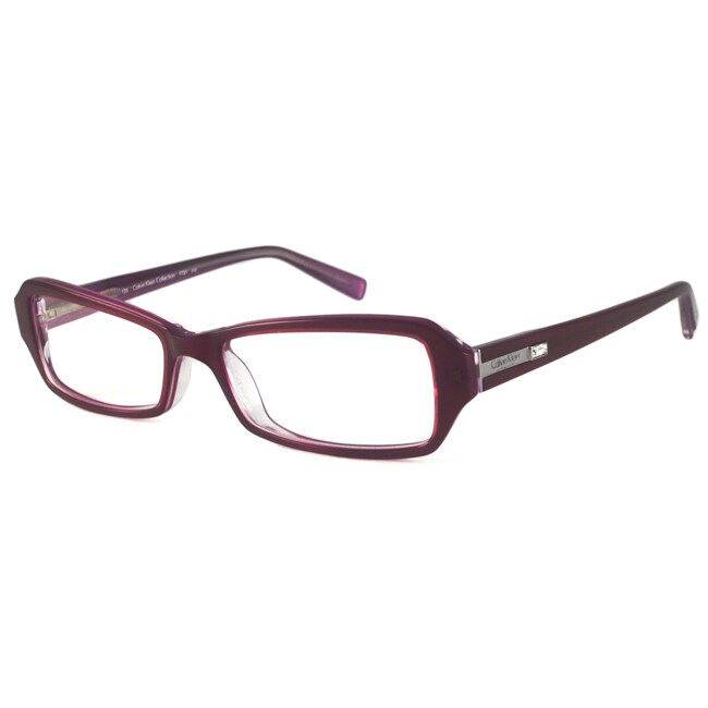 Calvin Klein Readers Women's CK7721 Aubergine Rectangular Reading Glasses