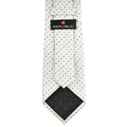 Republic Men's Dotted Cream Tie