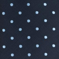 Republic Men's Dotted Navy-Blue Polyester Tie
