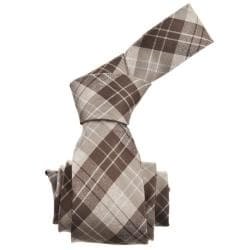 Republic Men's Plaid Woven Microfiber Tie