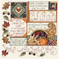 "Autumn Counted Cross Stitch Kit-9-1/4""X9-1/4"" 14 Count"