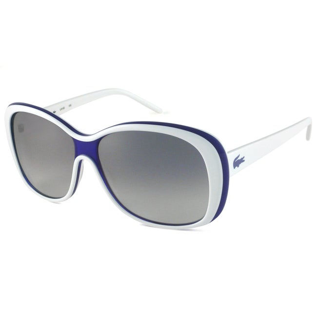 Lacoste Women's L610S Rectangular Sunglasses with White Frame