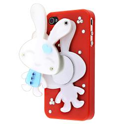 Red Rabbit Mirror Snap-on Case for Apple iPhone 4/ 4S