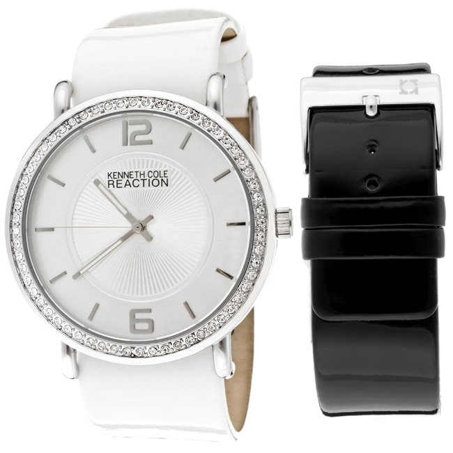Kenneth Cole Reaction Women's White Genuine Leather Watch