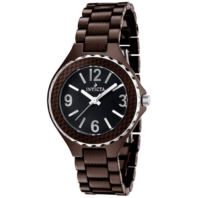 Invicta Unisex 'Ceramics' Brown Ceramic Watch