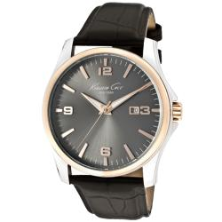 Kenneth Cole Men's KC1868 'Classic' Black Leather Watch