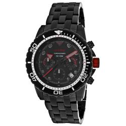 Red Line Men's 'Piston' Black Ion-plated Stainless Steel Watch