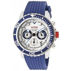 Red Line Men's 'Piston' Blue Textured Silicone Watch