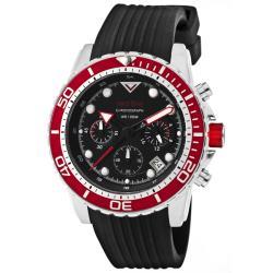 Red Line Men's 'Piston' Black Textured Silicone Watch