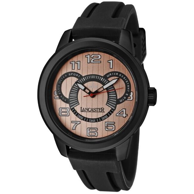Lancaster Italy Men's 'Non Plus Ultra/Sport' Black Silicone Watch