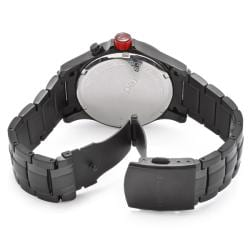 Red Line Men's 'Tech' Black Ion-Plated Stainless Steel Watch