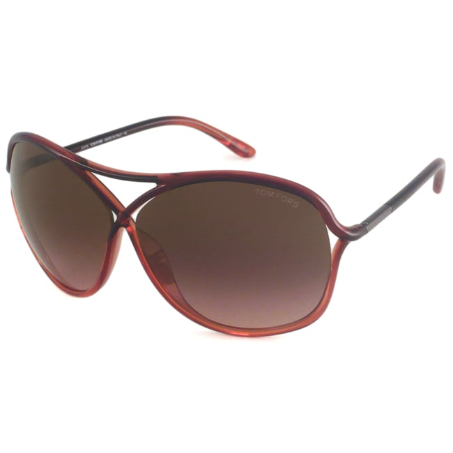 Tom Ford Women's TF0184 Vicky Rectangular Sunglasses