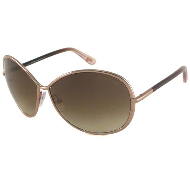 Tom Ford TF180 TF0180 Iris 34P Shiny Light Bronze Womens Fashion Sunglasses