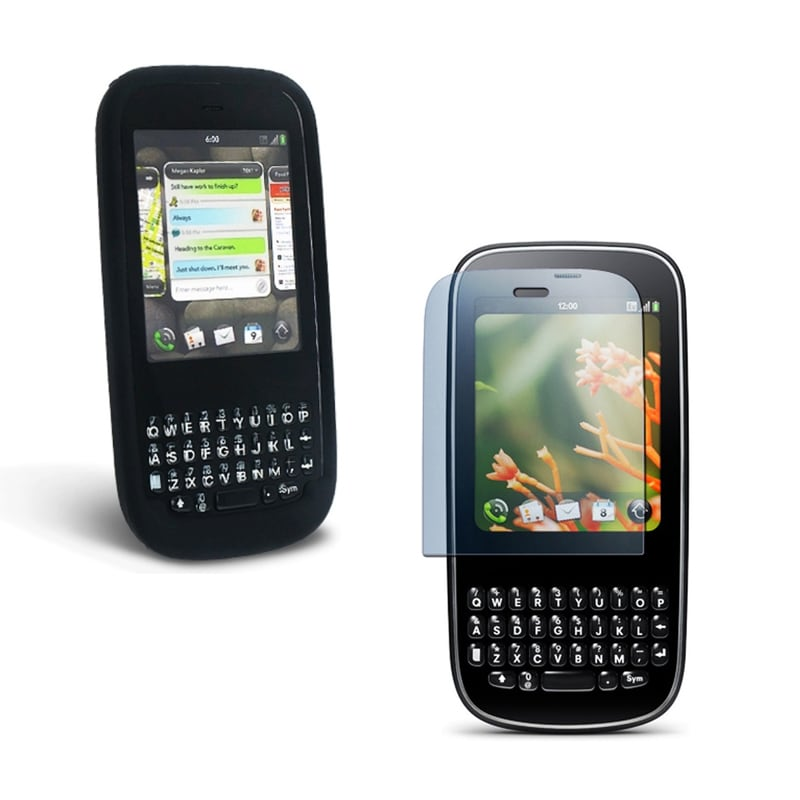 Black Silicone Case/ LCD Protector for PALM PIXI