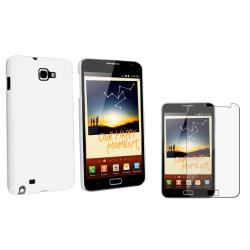 White Rubber Case/ Screen Protector for Samsung� Galaxy Note N7000