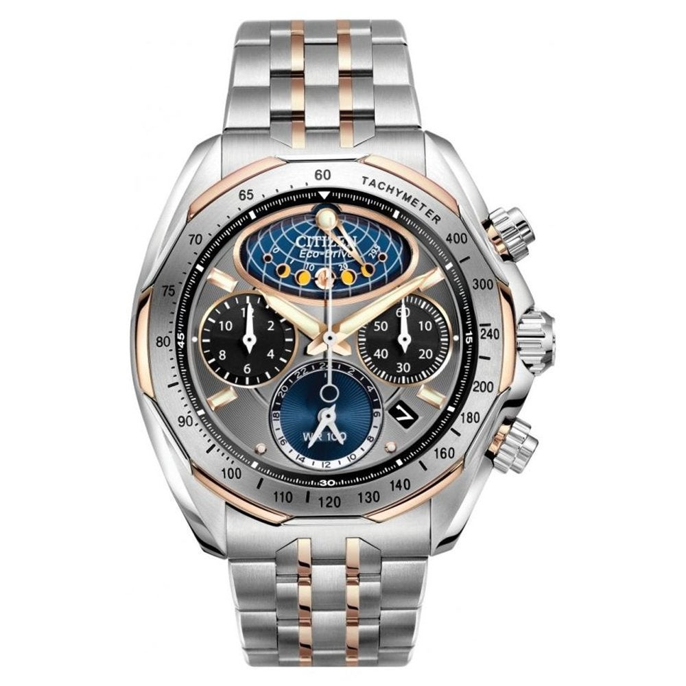 Citizen Men's Signature Eco-Drive Flyback Moonphase Watch
