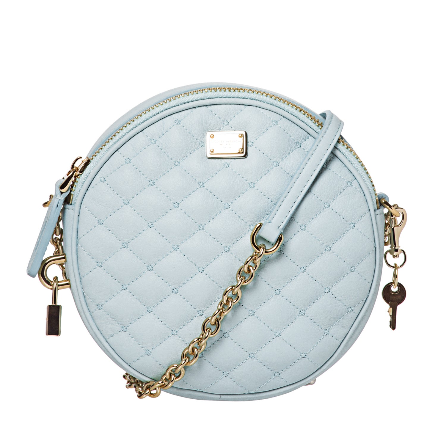 Dolce & Gabbana Round Quilted Leather Crossbody