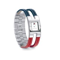 Tommy Hilfiger Women's Stainless Steel Red/ Blue Leather Watch