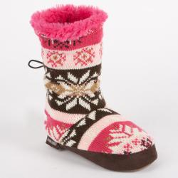 Muk Luks 'Ceci' Girls' Nordic Faux Fur-lined Toggle Slipper Boot