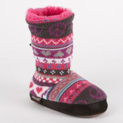 Muk Luks 'Ceci' 'Peace' Girls' Nordic Faux Fur-lined Toggle Slipper Boot