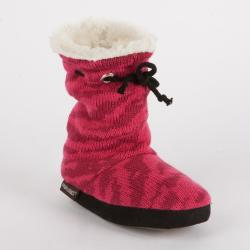 Muk Luks 'Molly' Girls' Animal Print Scrunched Tie Slipper Boot