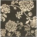 Poolside Black/ Natural Indoor Outdoor Rug (6'7 Square)