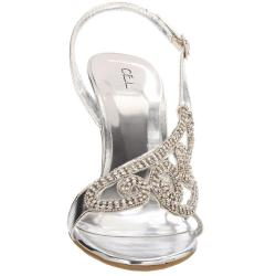 Celeste Women's 'Grace-16' Silver Slingback Sandal