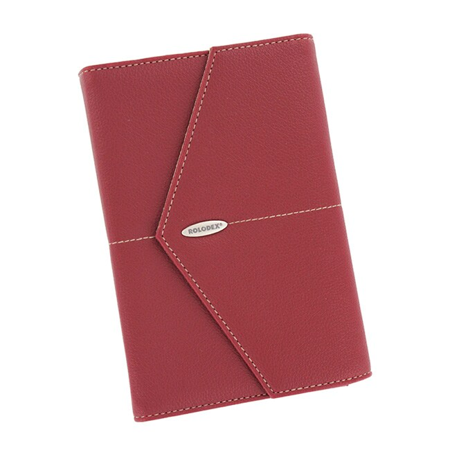 Rolodex Red Vinyl Casual-style Business Card Holder (72-card Capacity)